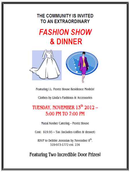 Fashion Show and Dinner