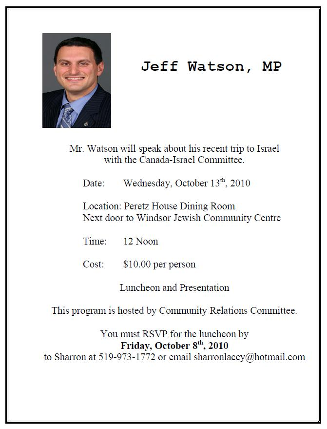 Jeff Watson to address the public at WJCC
